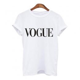2018 Suumer Kobiety T Shirt VOGUE List Druku Marki T-shirt Na Co Dzień Luźne Krótki Rękaw O Neck Kobiet Topy koszulki mujer