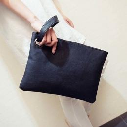 Proste Moda Kobiety Torebka Solid color Designer Leather Envelope Clutch Bag Torby Bolsa Feminina Torby Wristlets Kobiety Sprzęg