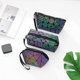 Luminous Maelove Torba Kobiety Geometria Makeup Bag torebka Projektant Turystyczna Składana Makijaż Torba mała torebka hurtowych