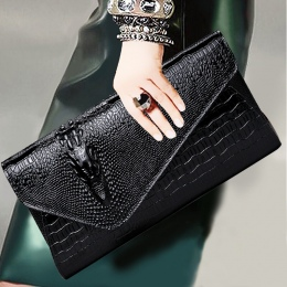 Duży rozmiar wzór Krokodyla PU Kobiety sprzęgło torba kobiety torebka torba pani wieczorem bankiet torba kobiet torebka torba na