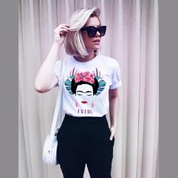 Hillbilly Nowe Mody Frida Kahlo T-Shirt Frida Dziewczyna Mocy Strój Unisex Tshirt Feminist Tee DTG Druku Modalne Elastan Kobiet