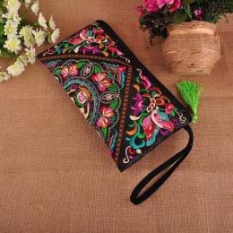 Moda Haftowane Kobiety Torebki Na Zakupy! Cały Mecz Kwiaty Haft Pani Dzień Cluthes Wszechstronny Handmade Etniczne torby Sprzęgł