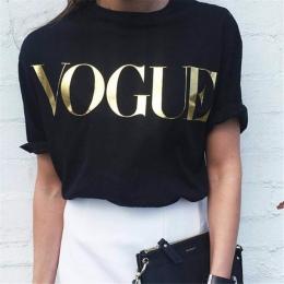 2018 Moda Lato T Shirt Kobiety VOGUE Nadrukiem T-shirt Kobiet Topy Tee Shirt Femme Nowości Hot Sprzedaż harajuku kobiet t-shirt