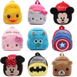 1-3Y Pluszowe Kreskówki Hello Kitty Tornister Dla Dziewczyna Przedszkole M Minnie Tornister Śliczne Dzieci Plecaki Plecak Dla Dz
