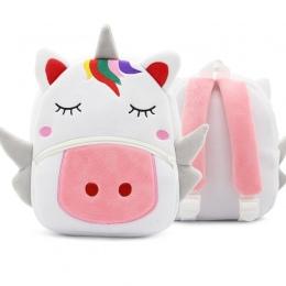 Plecak Szkolny dla dzieci Cartoon Rainbow Unicorn Projekt Miękkiego Materiału Pluszowe Dla Malucha Dziewczynek Przedszkole Dla D