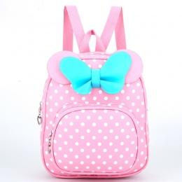 Dzieci Torby dla dziewcząt Przedszkola Dzieci Torby Szkolne Cartoon bow tie Baby Girl Szkoły Plecak Śliczne Dzieci Plecak