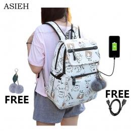 New Arrival Student Szkoła Torby dla Nastolatek Chłopcy Dziewczyny Wielofunkcyjny Laptop Plecak Szkolny kobiet bagpacks dziewczy