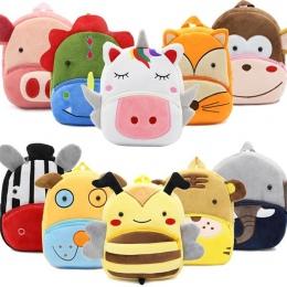 Dziewczyny Chłopcy Śliczne Unicorn Pluszowe Plecaki Szkolne Przedszkole 3D Kreskówki Torby Szkolne Dzieci Zwierząt Zabawki Torba