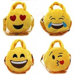 Piękny Chłopiec Wyraz Twarzy Emotikon Twarz Zabawki Pluszowe Torby Żółty Dziewczyny Chłopcy dzieci Plecak Tornister Crossbody To