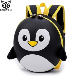 Pingwin BAIJIAWEI Nowy EVA Tornister Plecak Dla Dzieci Twarda Skorupa Plecak Cartoon Piękny Mini Torba Na Ramię Dla Dzieci Ślicz