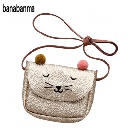 Banabanma Mini Słodkie Cat Ear Torba Na Ramię Dla Dzieci Wszystkie Mecze Klucz Monety Kiesy Kreskówek Piękne Torba dziewczynki p
