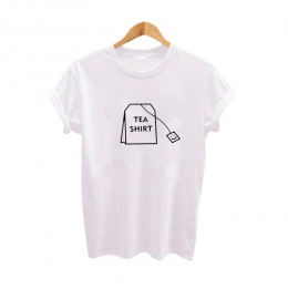 Humor Herbaty Koszula trójniki Graficzne Odzież Damska 2017 Lato Śmieszne koszulki z krótkim rękawem Harajuku Tumblr Hipster Dam