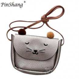 PinShang Mini Słodkie Cat Ear Moda Torba Torba Na Ramię dla Dziewczyna Dziecko Dzieci Kid przetwórni Wysyłania Bezpośrednio Najl