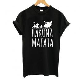 2017 Hakuna Matata list druku koszulkę Homme Lato Kobiet Krótkim Rękawem t shirt Plus Size kobiety dorywczo 100% Bawełna top