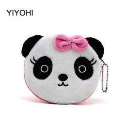 YIYOHI Gorąco Na Sprzedaż Kawaii Cartoon Panda/Wiewiórka Dzieci Pluszowe Monety torba Torebka Zip Zmień Purse Portfel Dzieci Dzi