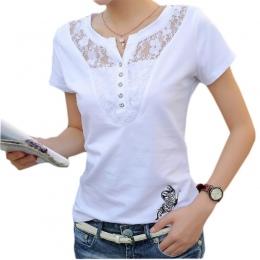 FEKEHA Lato Koszulka Damska Casual Lady Top Tees Bawełna Biały Tshirt Kobieta Marka Odzież T Shirt Top Tee Plus Size 4XL