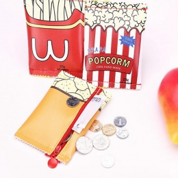 Kobiety śliczne creative przekąski monety kiesy pu skórzana portmonetka torba zamek Zmień Purse Portfel Posiadaczy Money Bag Dla