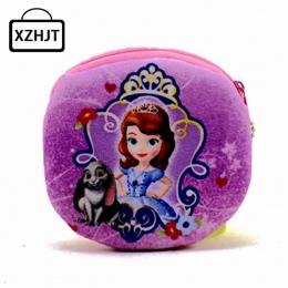 XZHJT Nowy 2016 Kawaii Cartoon Sofia Pierwsze Dzieci Pluszowe monety Na Suwak Torebka Zmień Purse Portfel Dzieci Dziewczyna Kobi