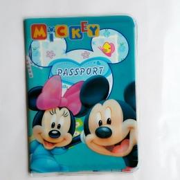 Cartoon mickey i minny capa passaporte id posiadacz karty skóra pcv 3d design torba wizytówka paszport okładka 14*9.6 cm