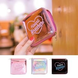 Hologram Laser Portfel Bentoy Hafty Księżyc Noc Sprzęgła Korea Dziewczyny Posiadacz Karty Shining Kobiety Serce Money Bag Kobiet