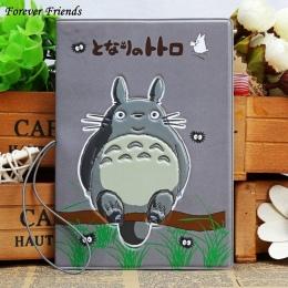 Cartoon Totoro 3D stereo Travel paszport pokrywa karty posiadacz Karty Kredytowej 14*9.6 cm PCV Torba Wylot do podróży