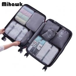 Mihawk Torby Podróżne Ustawia Wodoodporny Pakowania Cube Przenośny Odzież Sortowanie Organizator Bagażu Tote System Trwałe Schlu