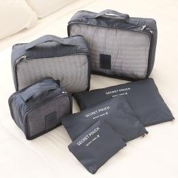 6 SZTUK Mężczyźni i Kobiety Torba Podróżna Ubrania Bielizna Biustonosz Pakowania Cube Bagażu Organizator Pokrowiec Rodziny Szafa