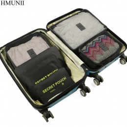 HMUNII 6 sztuk/zestaw Wysokiej Jakości Oxford Tkaniny Podróży Mesh Torba W torbie Bagażu Organizator Pakowania Cube Organizator