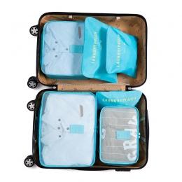 IUX Nylon System Pakowania Cube Travel Bag Trwałe 6 Sztuk Jeden Zestaw Duża Pojemność Torby Unisex Organizować Sortowania Odzież