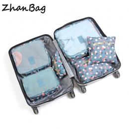 6 sztuk/zestaw Wysokiej Jakości Oxford Tkaniny Mesh Torba Podróżna Organizator Przechowalnia Pakowania Cube Organizator Higieny