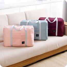 Moda Kobiety Bagażu Podróży Torba Duża Pojemność Składane Składane Nylonowe Zamek Wodoodporny Podróży bagaż Podręczny Teczka Tor