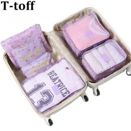 Nylon Opakowanie Cube Podróży bagażu 6 Sztuk Zestaw Duża Pojemność Torby Torba mężczyzna kobiet Unisex Odzież torba podróżna org