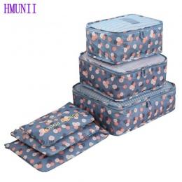 6 Sztuk/zestaw Wysokiej Jakości Oxford Tkaniny Oczek Worka Pakowania Cube Bagażu Organizator Organizator Podróży Torby Podróżne
