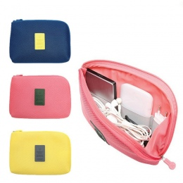 ZhanBag Kreatywny Podróży Cyfrowy Ładowarka USB Kabel Słuchawek Przypadku Wstrząsoodporny Makijaż Kosmetyki Organizator Akcesori