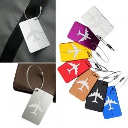 Gorąca Sprzedaż bagażu tag Samolotu Kwadratowy Kształt ID Walizka Tożsamości Adres Etykiety Nazw akcesoria podróży Bagażu Pokład