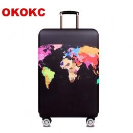 OKOKC Mapa Świata Elastyczna Gruba Pokrywa Bagażu dla Tułowia Przypadku Stosuje Się do 18 ''-32'' Walizka, walizka Ochronna Podr