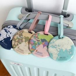 Moda Mapa Kobiet Akcesoria Żel krzemionkowy Podróży Walizka Bagaż Tag ID Uchwyt Na Pokład Bagażu Tag Adres Przenośne Etykiety