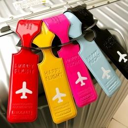Podróż PU Skóra Pokrywa Akcesoria Kreatywna Walizka Bagaż Tag Adres ID Holder List Tagi Bagaż Internaty Przenośne Etykiety
