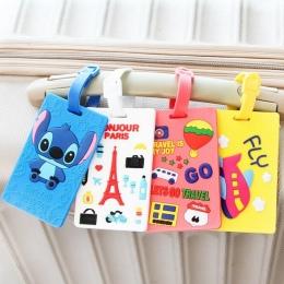 Kawaii Stitch Doraemon Walizka Bagaż Tag Kreskówki Adres ID Holder Bagażu Etykiety Silica Ge Identyfikator Akcesoria Podróżnicze