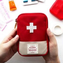 Funkcja Przenośne Apteczka Podróży Akcesoria Awaryjnego Pierwszej Pomocy Medycyny Narkotyków Tkanina Bawełniana Torba Przypadku