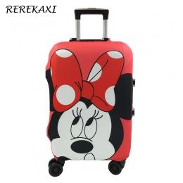 Minnie I Mickey Wzór Podróż Walizka Pokrywa Ochronna, Elastyczna Pył Case Pokrywa Dla 19-32 Cal Wózek, akcesoria podróży