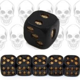 5 sztuk/zestaw Czarny Czaszka Kości Czaszki Grinning Deluxe Diabeł Rozgrywka Kości Dice Poker Wieża ze Śmiercią Gry Stołowe Podr