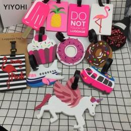 Akcesoria Kreatywny Bagażu podróży Walizka ID Tag Zwierząt Cartoon Żel krzemionkowy Podczas Wizyty Posiadacza Tagi Bagaż Interna