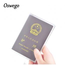 OSWEGO Przejrzyste Posiadacza Paszportu Posiadacza karty PCV Wodoodporne Podróży Paszport Okładka