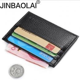 Moda W Stylu Vintage Retro Tekstury Mini ID Posiadacze Posiadacz Karty kredytowej Biznes Skórzane Szczupła Banku Credit Card Hol