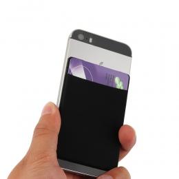 1 pc Moda Elastyczna Telefon Komórkowy Kieszeń Jednolity Telefon komórkowy Portfel Credit Card ID Holder Kieszonkowy Naklejki Sa