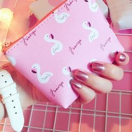 1 PC Popularne Kobiety Flamingo Strawberry Wzór Monety Portmonetka Zip Bag dziecko dziewczyny chłopcy Mini Portfel PU Skóra Prze