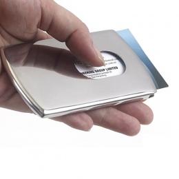 Przenośny push Ręcznie Ze Stali Nierdzewnej typu Biznesu posiadacz karty etui na karty portfel mężczyzn