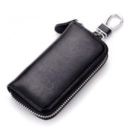 2018 Genuine Leather Kluczowe Portfele Mężczyzn i Kobiet Torba Klucz Samochodowy Wielofunkcyjny Klucz Case Moda Gosposia Key Pos