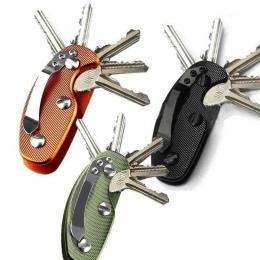 Nowa Aluminiowa Inteligentny Klucz Uchwyt Organizator Folderu Klip Brelok Narzędzie Kieszonkowe